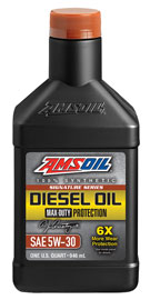 Amsoil signature max duty 5w-30 synthetic diesel oil