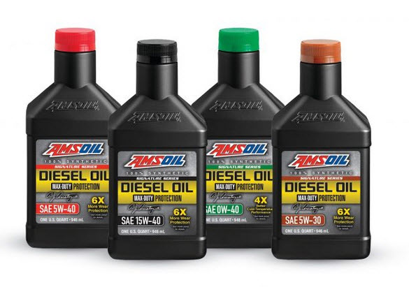 Amsoil CK 4 Diesel oils 5w-30 0w-40 5w-40 15w-40